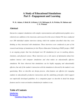 A Study of Educational Simulations Part I - Engagement and Learning