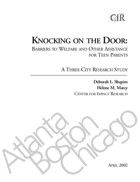 Knocking on the Door: Barriers to Welfare and Other Assistance for Teen Parents