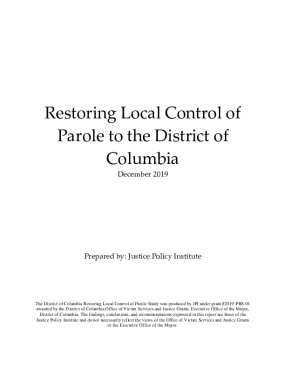 Restoring Local Control of Parole to the District of Columbia