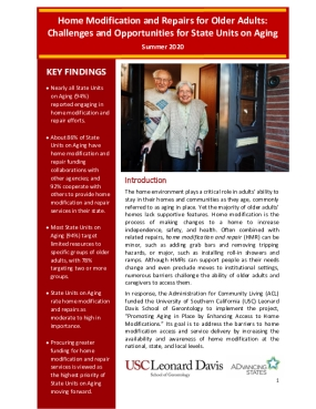 Home Modification and Repairs for Older Adults: Challenges and Opportunities for State Units on Aging