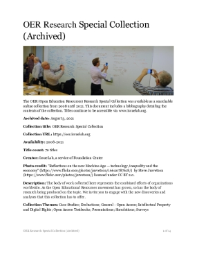 OER Research Special Collection (Archived)